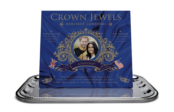 Crown Jewels on silver tray